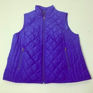Women's Plus Size 2X Relativity Blue Quilted Vest